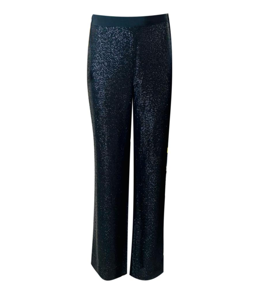 Carolina Herrera Wide Leg Sparkle Trousers. Size 10UK