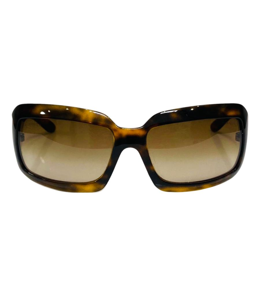 Chanel 'CC' Logo Tortoise Shell Sunglasses