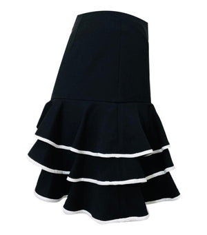 Jonathan Simkhai Ruffle Tiered Mini  Skirt. Size 2US