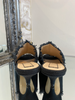 No.21 Black Kitten Heel Mules. Size 37.5