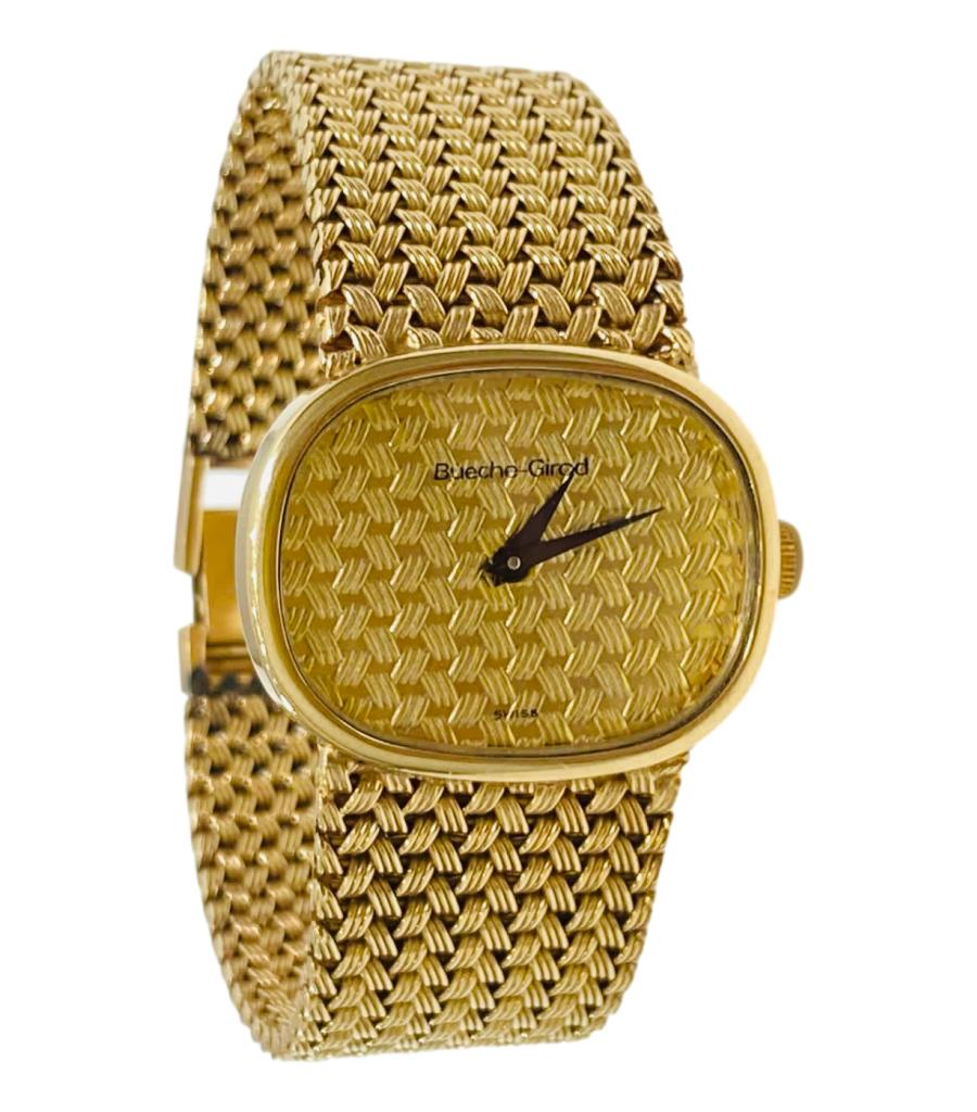 Bueche Girod Rare 9k Solid Gold Watch