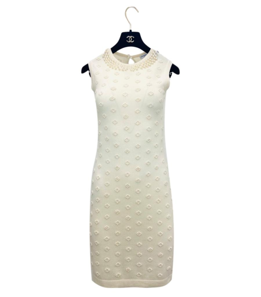 Chanel Cashmere & Pearl Dress. Size 38FR