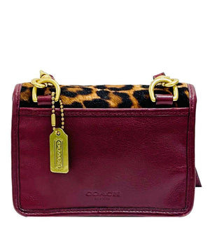 Coach Leopard Print Mini Cross Body Bag