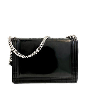 Chanel Glazed Calfskin Large Boy Bag