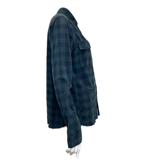Zadig & Voltaire Cotton Plaid Shirt. Size M