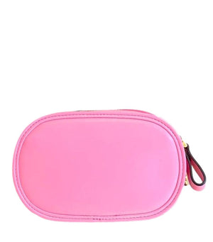 Valentino Leather Wrist V Clutch Bag