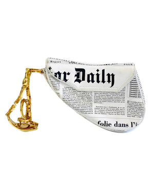Dior Mini Saddle Bag Ltd Edition 'Read The News' John Galliano
