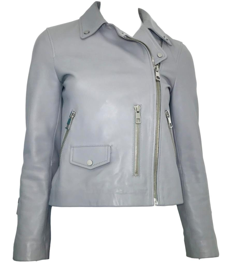 Whistles Agnes Pocket Leather Jacket. Size 6UK