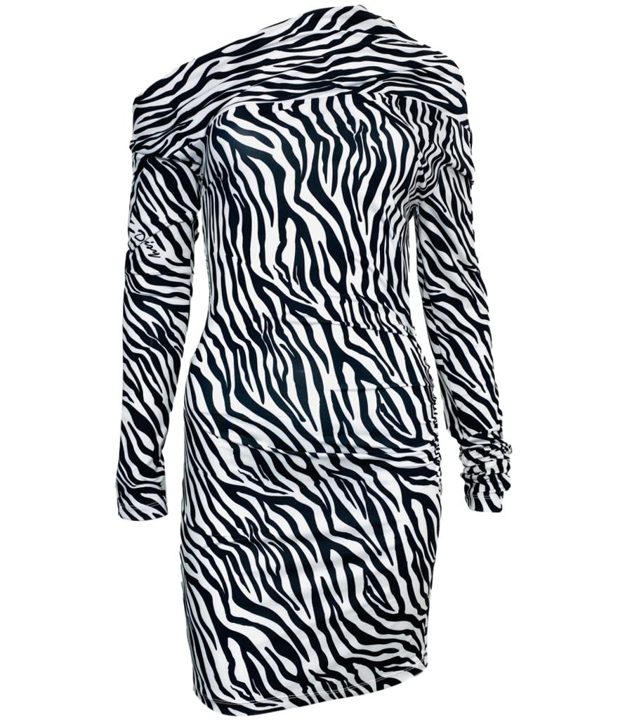 Daisy Zebra Print Dress. Size S