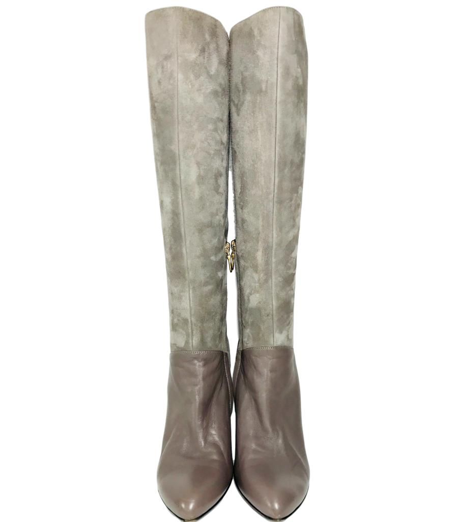 Bally Suede Knee High Boots. Size 38