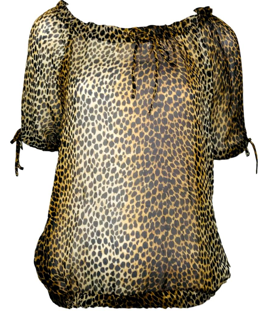 Dolce & Gabbana Leopard Top. Size 44IT