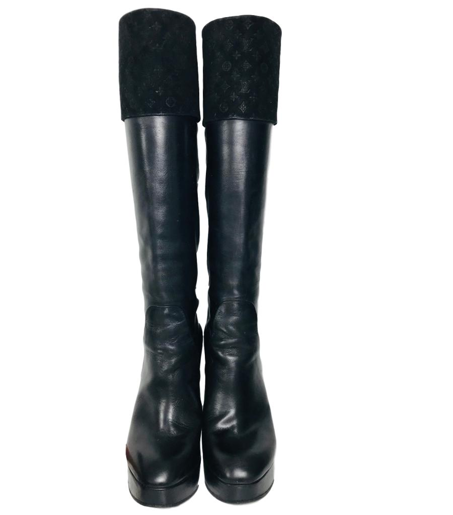 Louis Vuitton Knee Length Boots. Size 36.5