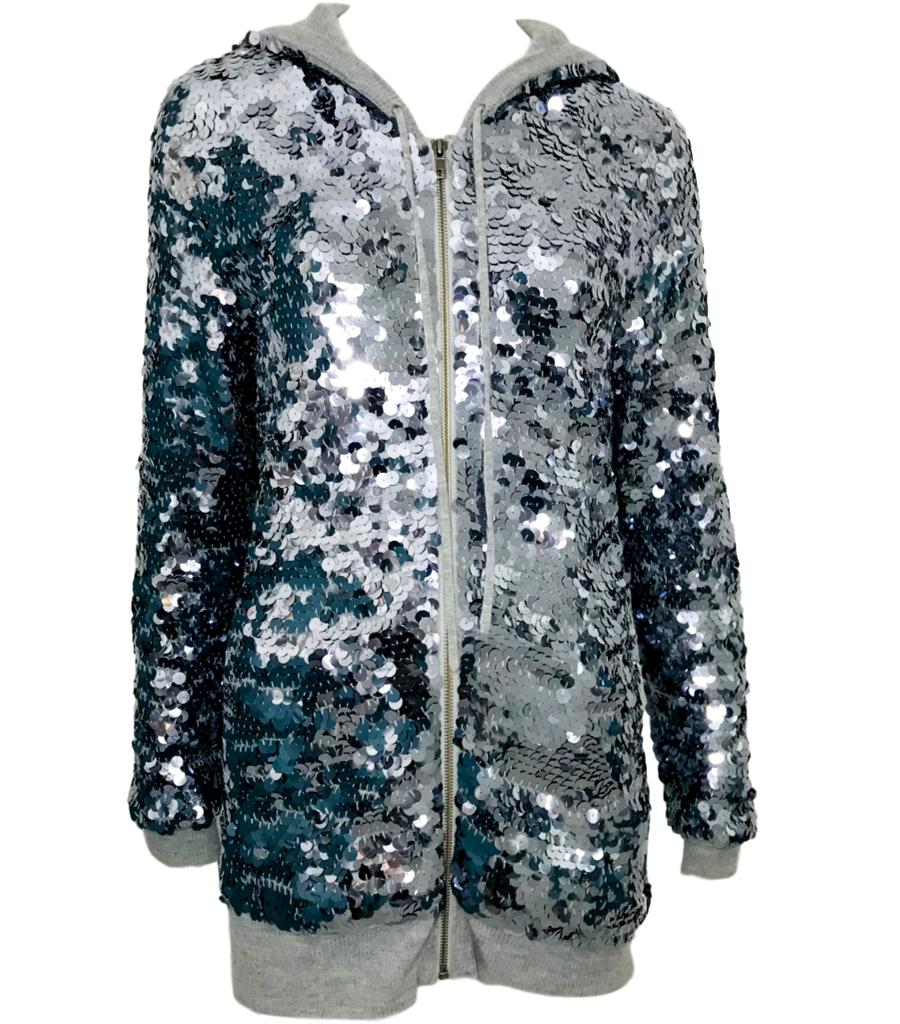 Joseph Cashmere Sequined Hoodie. Size XL