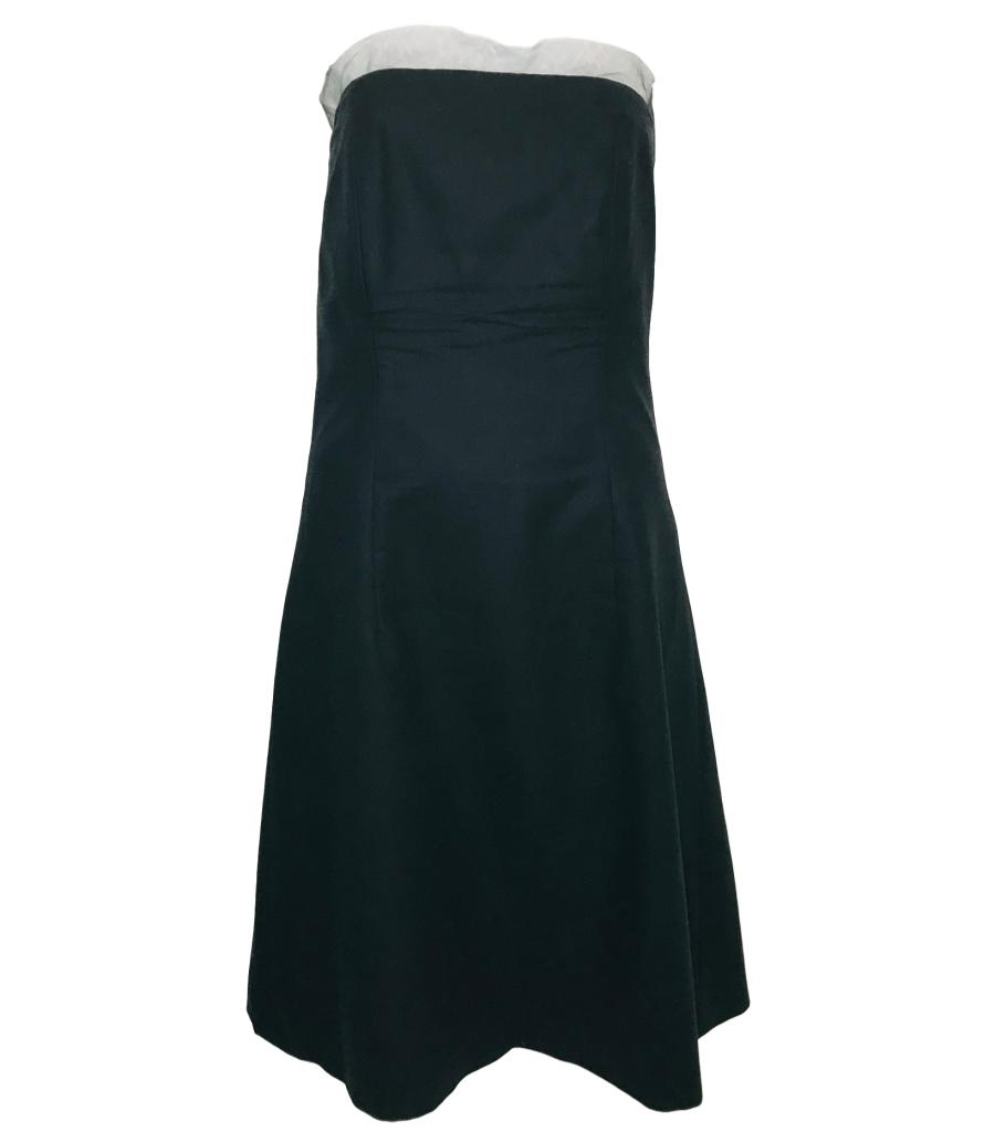 Burberry London Black Bustier Dress. Size 8 UK