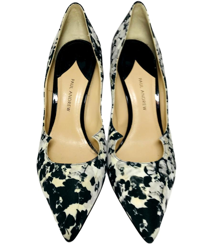 Paul Andrew Floral Heels. Size 40