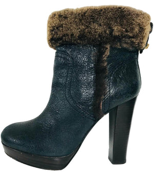 Tory Burch Sebastian Shearling Ankle Boots. Size 7.5M - 5.5UK