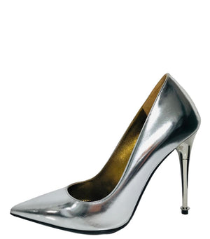 Tom Ford Metallic Leather Pumps. Size 35.5