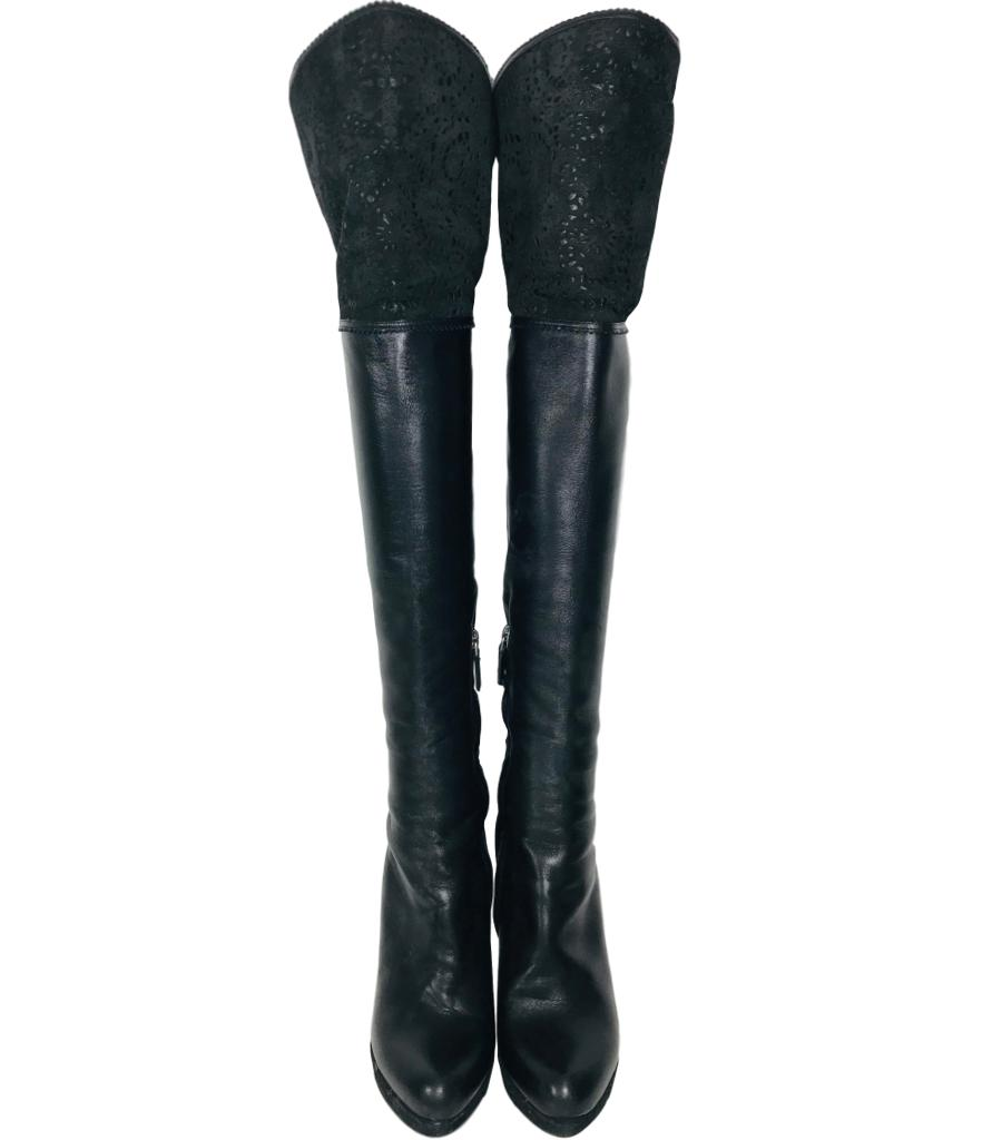 Dior Leather Over The Knee Boots. Size 37