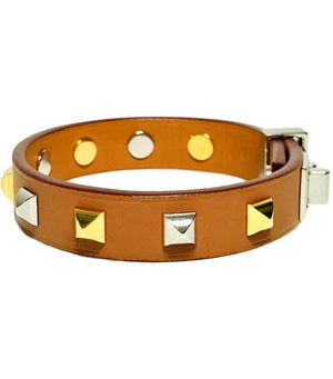 Hermes Mini Dog Clous Carres Bracelet