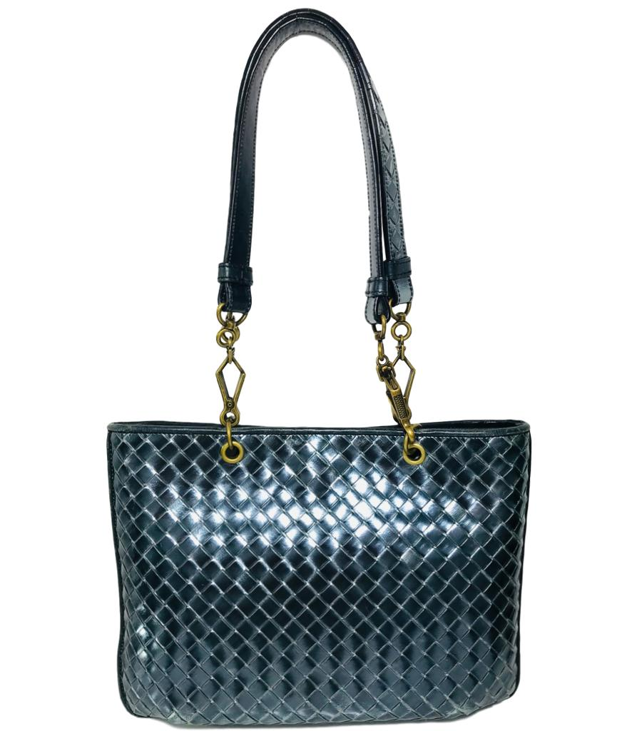 Bottega Veneta Metallic Woven Bag