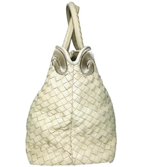 Bottega Veneta Embroidered Trim Tote