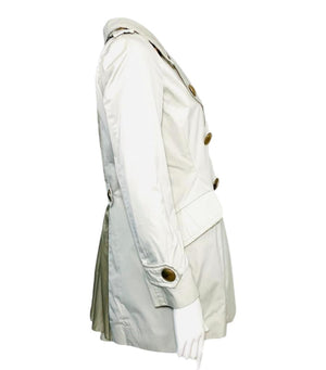 Moncler Silk Tulle Vented Trench Coat. Size 0