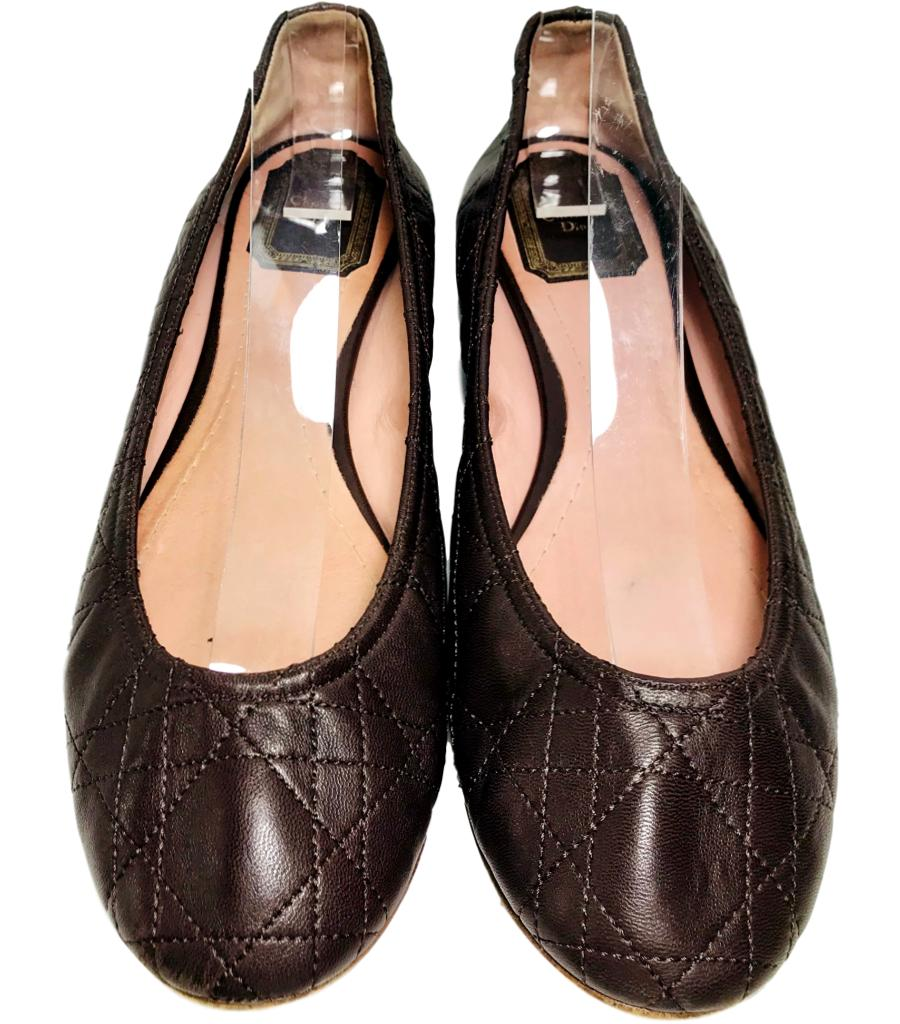 Christian Dior Leather Ballet Flats. Size 39
