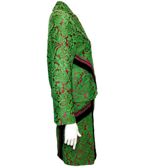 Prada Jacquard Two-Piece Suit. Size 38IT