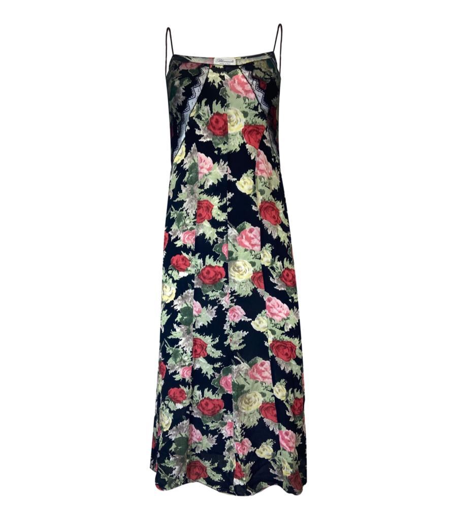 Blumarine Floral Slip Dress. Size 42IT