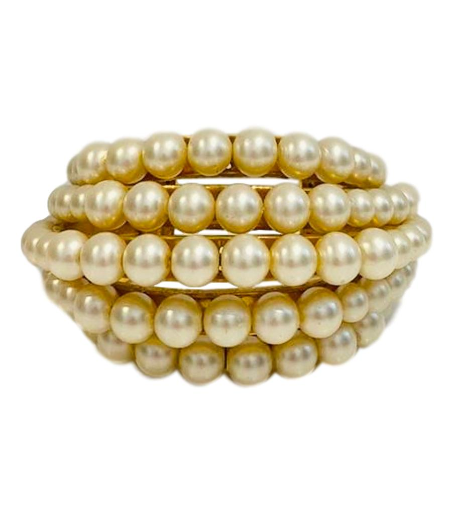 Chanel Multi Tier Pearl Cuff