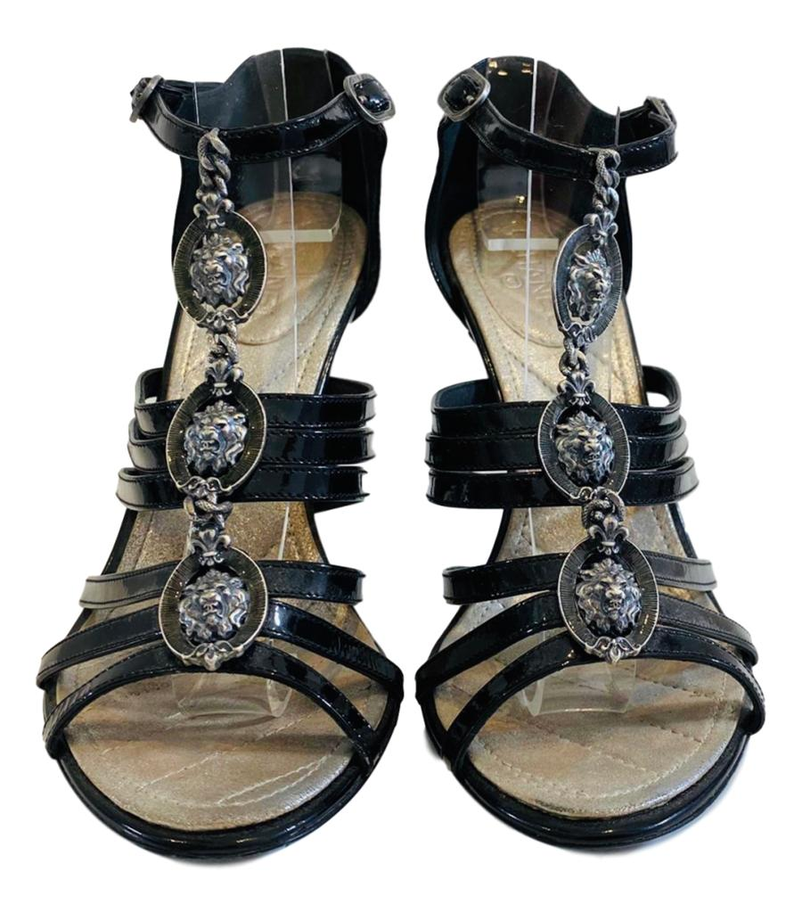 Chanel Lion Medallion Midi Heels. Size 36.5