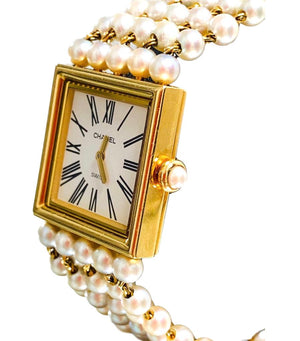 Chanel Mademoiselle Gold & Akoya Pearl Watch