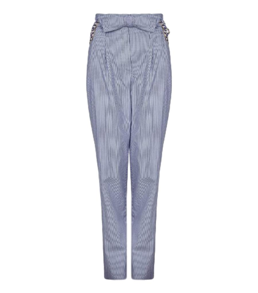 Daivor Paper Bag Embellished Trousers. Size 34IT