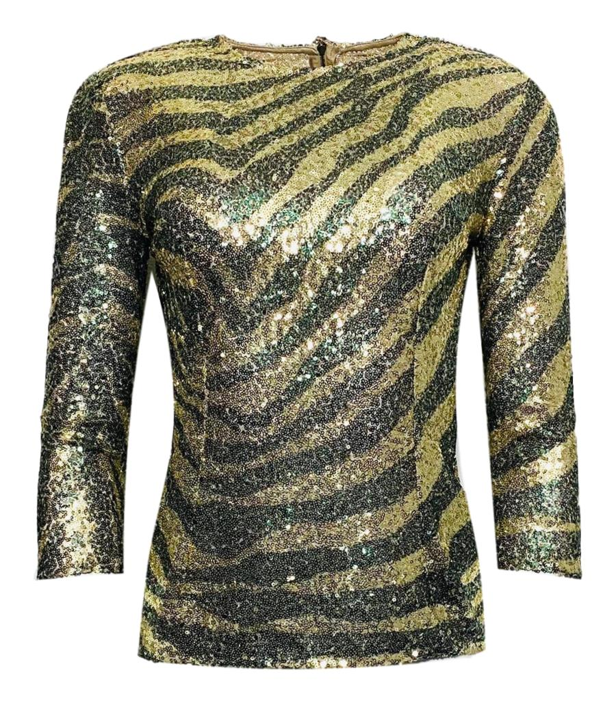 Dolce & Gabbana Sequin Top. Size 38IT