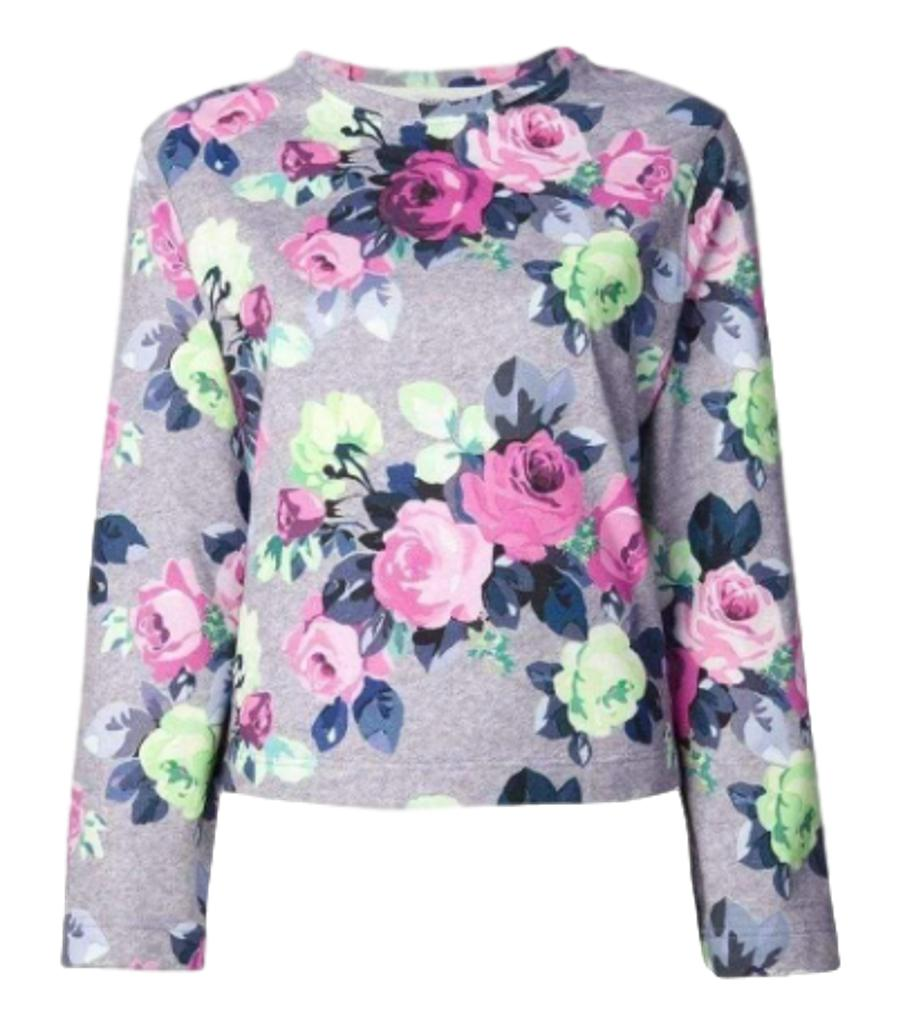 Carven Floral Cotton Sweater. Size L