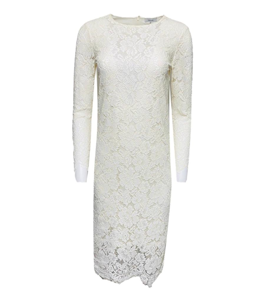Ganni Lace Midi Dress. Size 34FR