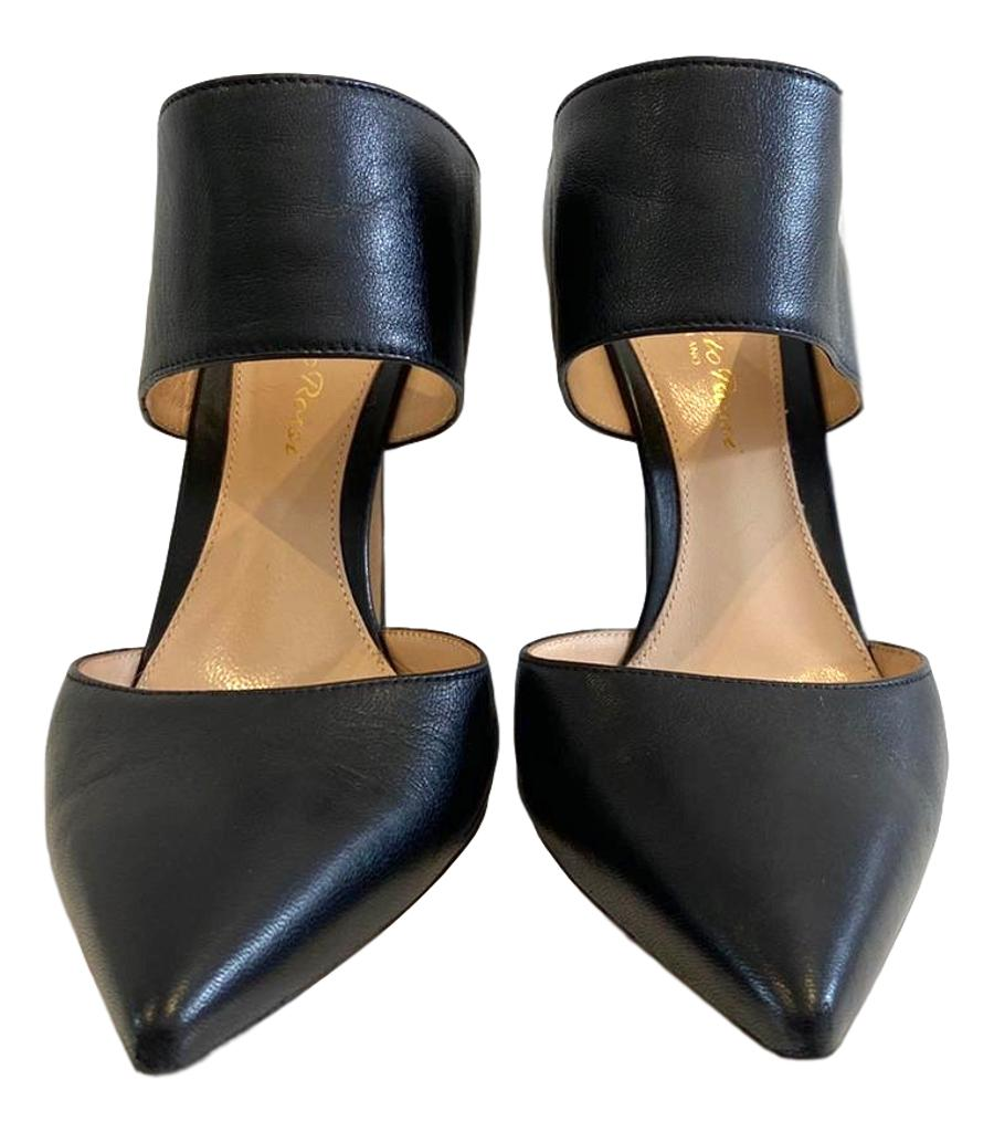 Gianvito Rossi Leather Mules. Size 36.5