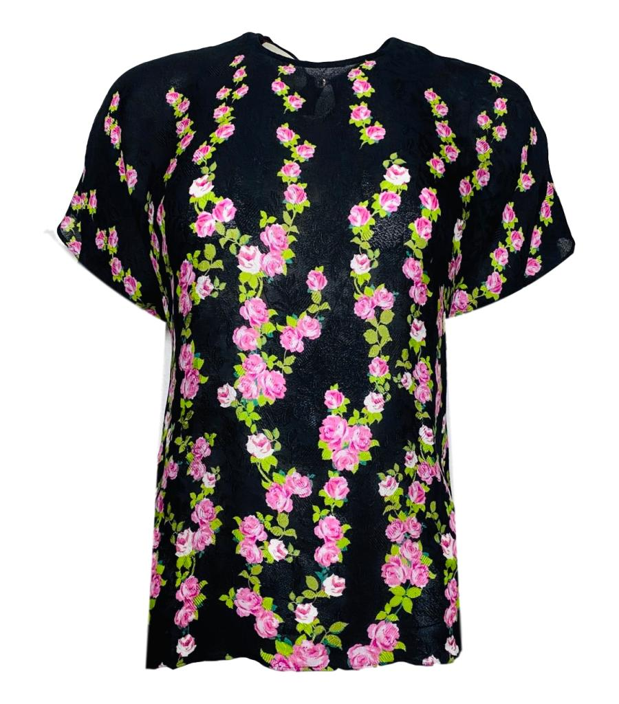 Gucci Floral Print Top. Size 38IT