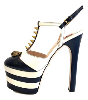 Gucci Angel Striped Platfrom Spike Heels. Size 35.5