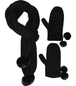 Louis Vuitton Monogram Cashmere & Mink Fur Scarf/Mitten Set