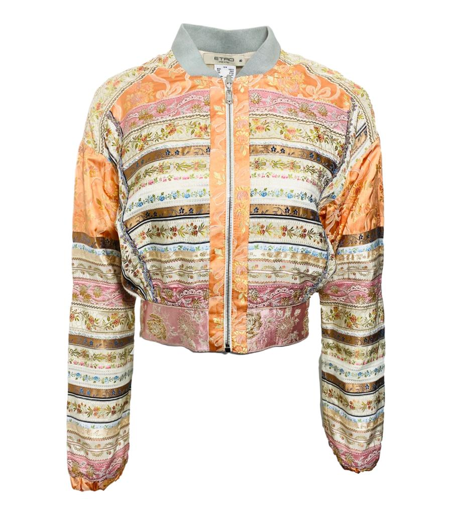 Etro Floral Embroidered Bomber Jacket. Size 38IT & 40IT