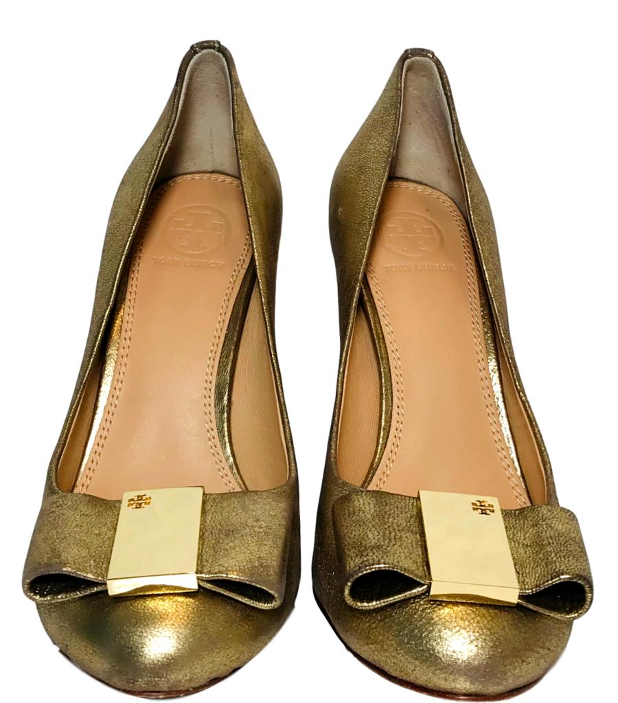 Tory Burch Leather Heels. Size 37