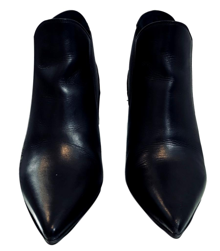 02ad2bac424 Yves Saint Laurent Black Leather Ankle Boots. Size 35 – Shush At The ...