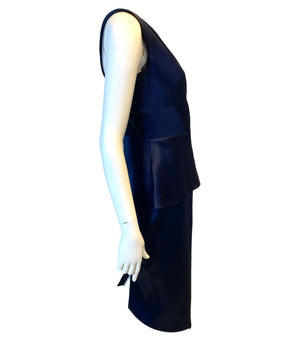Roland Mouret Anerely One Shoulder Satin Dress. Size 10UK