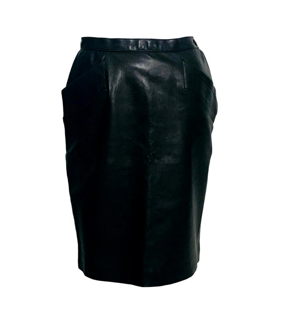 Saint Laurent Leather Skirt. Size 38FR
