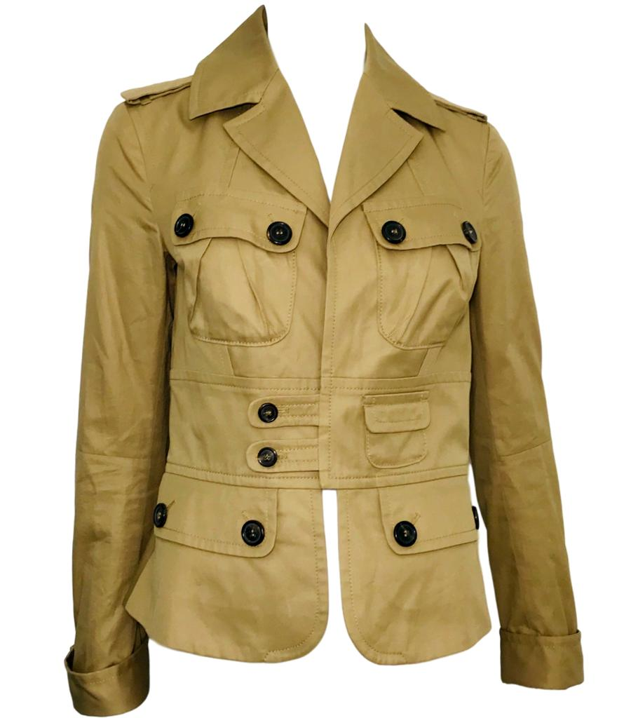 Dsquared2 Cotton Safari Jacket. Size 44IT