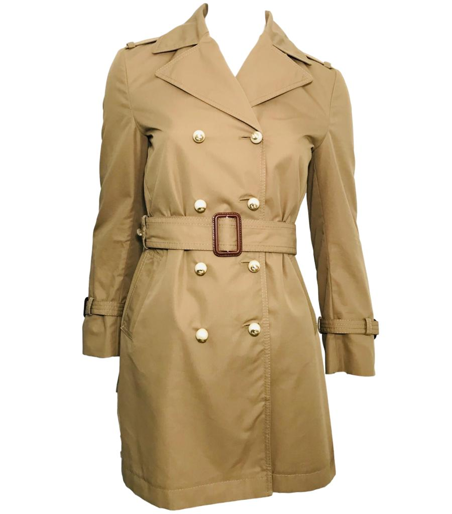 Gucci Pearl Button Trench Coat