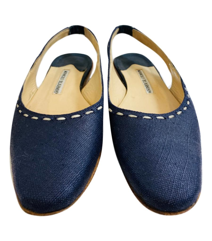Manolo Blahnik Cloth Flat Shoes. Size 37.5