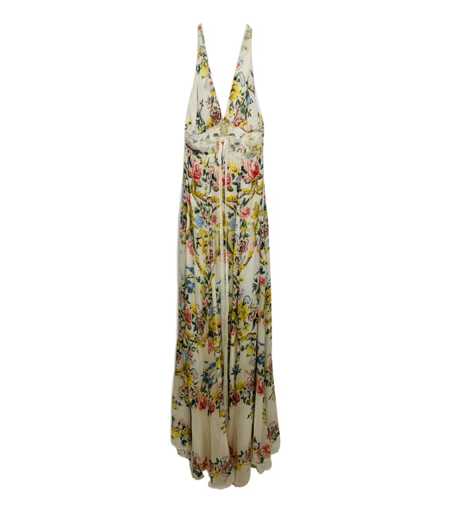 Roberto Cavalli Silk Maxi Dress. Size 40IT