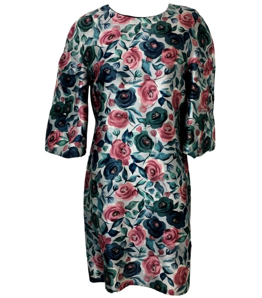 Burberry Watercolour Rose Print Dress. Size 12UK